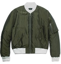 Haider Ackermann Padded Hell Bomber Jacket Army Green