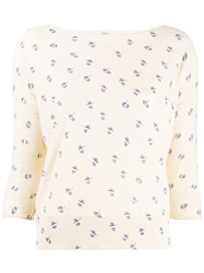 Bellerose Patterned Top Neutrals