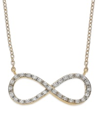 Wrapped Yellora Diamond Infinity Pendant Necklace In Yellora 1 6 Ct. T.W. In Yellora