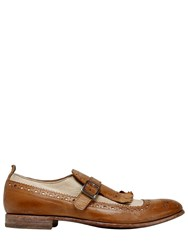 Moma Two Tone Leather Monk Strap Shoes