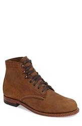 Wolverine Men's '1000 Mile' Plain Toe Boot Brown Waxy Suede