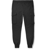 Todd Snyder Champion Slim Fit Cotton Jersey Cargo Sweatpants Black