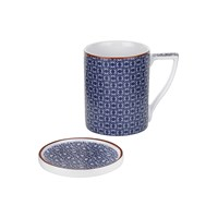 Ted Baker Mug And Coaster Set Malton Ii