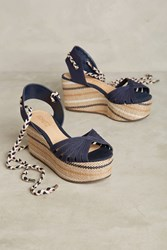 Anthropologie Schutz Karlan Wedge Sandals Navy