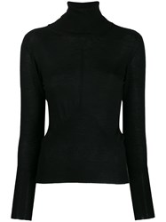 Lorena Antoniazzi Cashmere Turtleneck Sweater Black