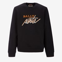 Bally Men's Cotton Fleece Sweatshirt In Black