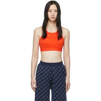 Adidas By Stella Mccartney Orange P Ess Bra