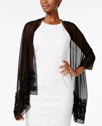 Inc International Concepts Tulle Swirl Wrap Created For Macy's Black