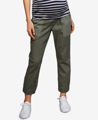 A Pea In The Pod Maternity Canvas Jogger Pants Olive