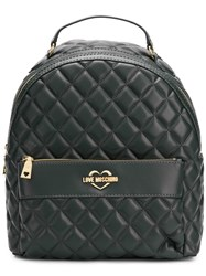 Love Moschino Quilted Backpack Grey