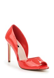 Lost Ink Cloie Peep Toe Courts Coral