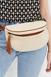 Ecote Textured Belt Bag Ivory
