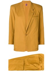 Issey Miyake Vintage Classic Two Piece Suit Yellow And Orange