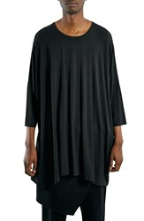 Topman 'Aaa Collection' Oversized Longline Batwing T Shirt Black