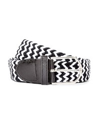 The Idle Man Woven Belt Black And White
