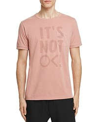 Outerknown It's Not Ok Graphic Tee Pink