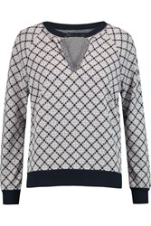 Marc By Marc Jacobs Andrea Jacquard Knit Top Blue