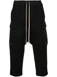 Rick Owens Cropped Track Pants Black