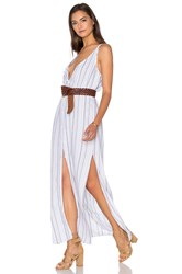 Bella Dahl Button Front Maxi Dress White
