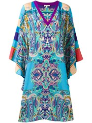 Etro V Neck Caftan Blue