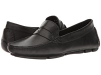 Massimo Matteo Penny Keeper Black Bison Moccasin Shoes