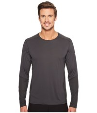 Mountain Hardwear Photon Long Sleeve Tee Shark Men's Long Sleeve Pullover Gray