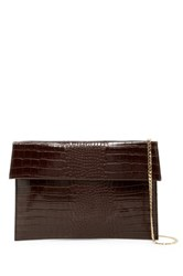 Urban Expressions Hugo Convertible Faux Leather Clutch Brown