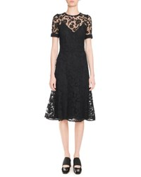 Givenchy Anna Lace Short Sleeve Dress Black