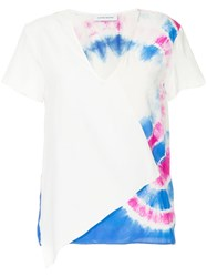 Cnc Costume National Tie Dye V Neck T Shirt White