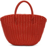 Beautiful People Red Pvc Mini Tote