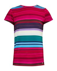 Ted Baker Itrsti Striped Fitted T Shirt Pink