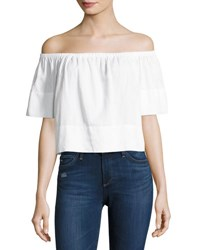 Ag Jeans Sylvia Off The Shoulder Top White