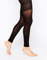 Asos 50 Denier Footless Tights With Bum Tum Thigh Support Black