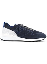 Hogan Rebel Lace Up Sneakers Blue