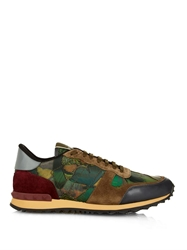 Valentino Camo Butterfly Print Trainers