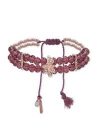 Lonna And Lilly Crystal Slider Beaded Bracelet Red