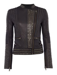 Label Lab Limited Edition Black Studded Leather Jacket