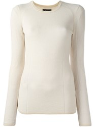 Isabel Marant Sheer Sweater Nude Neutrals