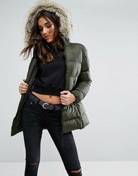 G Star Whistler Padded Jacket With Faux Fur Hood Grey
