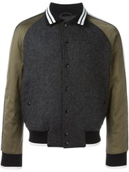 Lanvin Baseball Bomber Jacket Grey