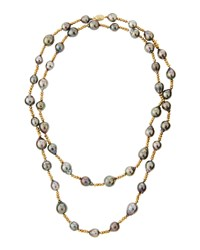 Belpearl 14K Tahitian Pearl And Pyrite Beaded Rope Necklace 43 L