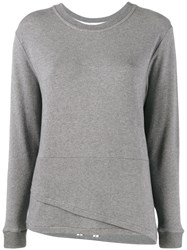 Lot 78 Lot78 Double Hem Sweater Grey