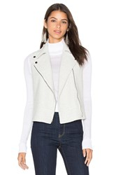 Heather Boucle Zip Vest Light Gray