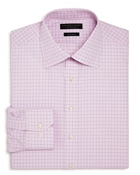 Bloomingdale's The Men's Store At Contrast Check Regular Fit Dress Shirt 100 Exclusive Pink