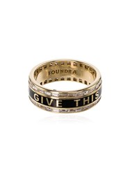 Foundrae Promise Diamond Ring Gold Black