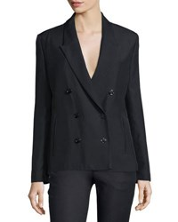 Cnc Costume National Peaked Lapel Double Breasted Jacket Black