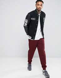Asos Standard Joggers In Dark Red Rosewood