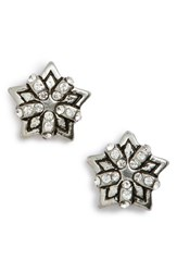 Marc By Marc Jacobs Women's Starry Stud Earrings Crystal Antique Silver