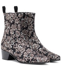 Pierre Hardy Reno Floral Brocade Ankle Boots Black