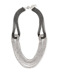 Lulu Frost Quixotic Crystal Statement Necklace Black Silver